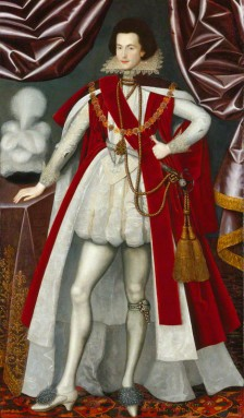 George Villiers, 1st Duke of Buckingham, attributed to William Larkin, oil on canvas, circa 1616